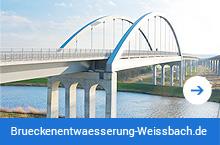 Brücke Itzhoe ein Projekt der Brückenenwtässerung Weißbach Chemnitz